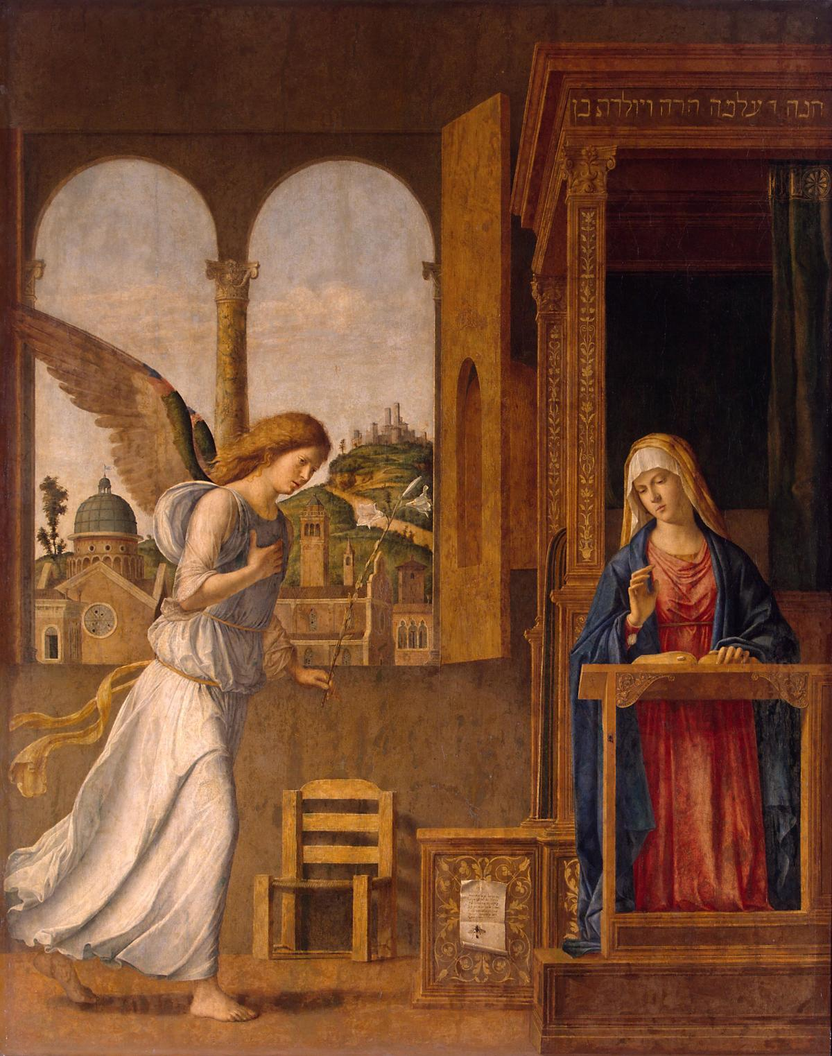 The Annunciation by Cima Da Conegliano