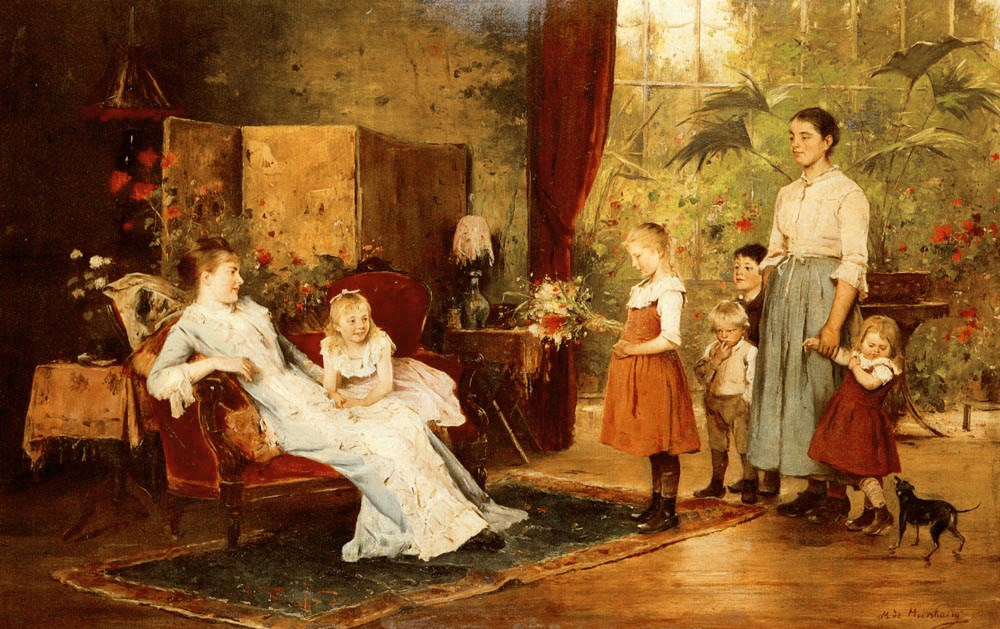 The Fete Of The Lady Of The Manor by Mihaly Munkacsy