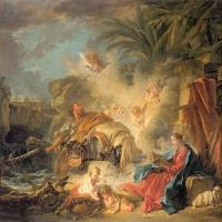 The Rest on the Flight into Egypt by Francois Boucher