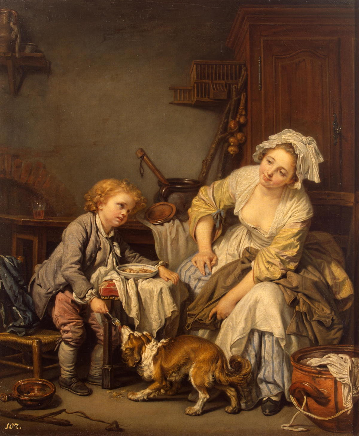 The Spoiled Child by Jean Baptiste Greuze