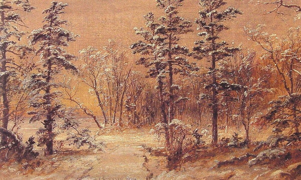Winter Woodland by Jasper Francis Cropsey