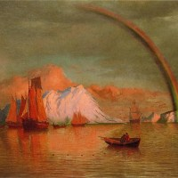 Arctic Sunset with Rainbow by William Bradford