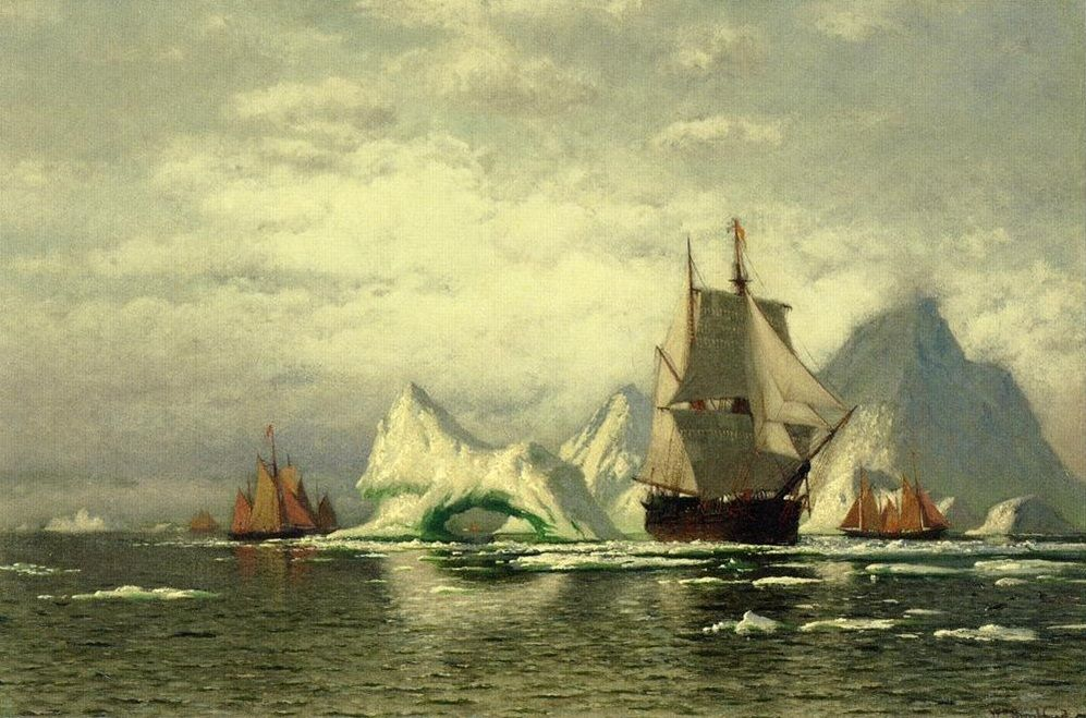 Arctic Whaler Homeward Bound Among the Icebergs by William Bradford