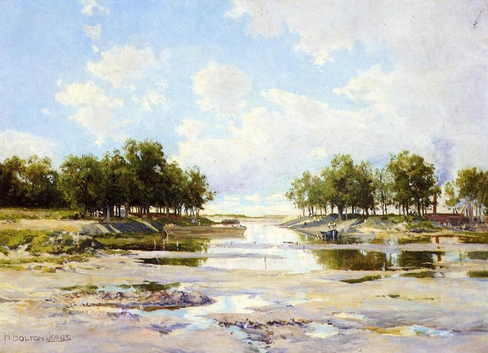 Inlet at Low Tide by Hugh Bolton Jones