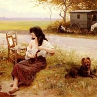 La Gitane A La Toilette by Edouard Bernard Debat Ponsan