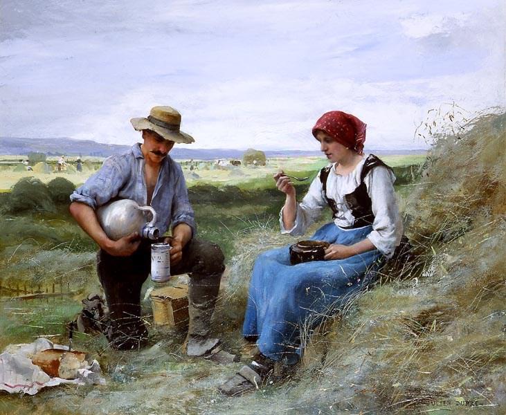 Le Dejeuner de Faneuse by Julien Dupre