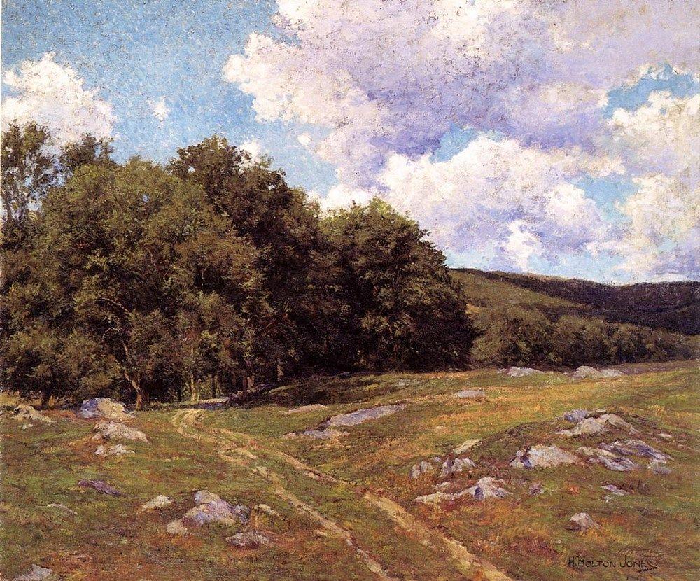 Meadow Crossing by Hugh Bolton Jones