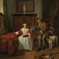 The Hunter's Present by Gabriel Metsu