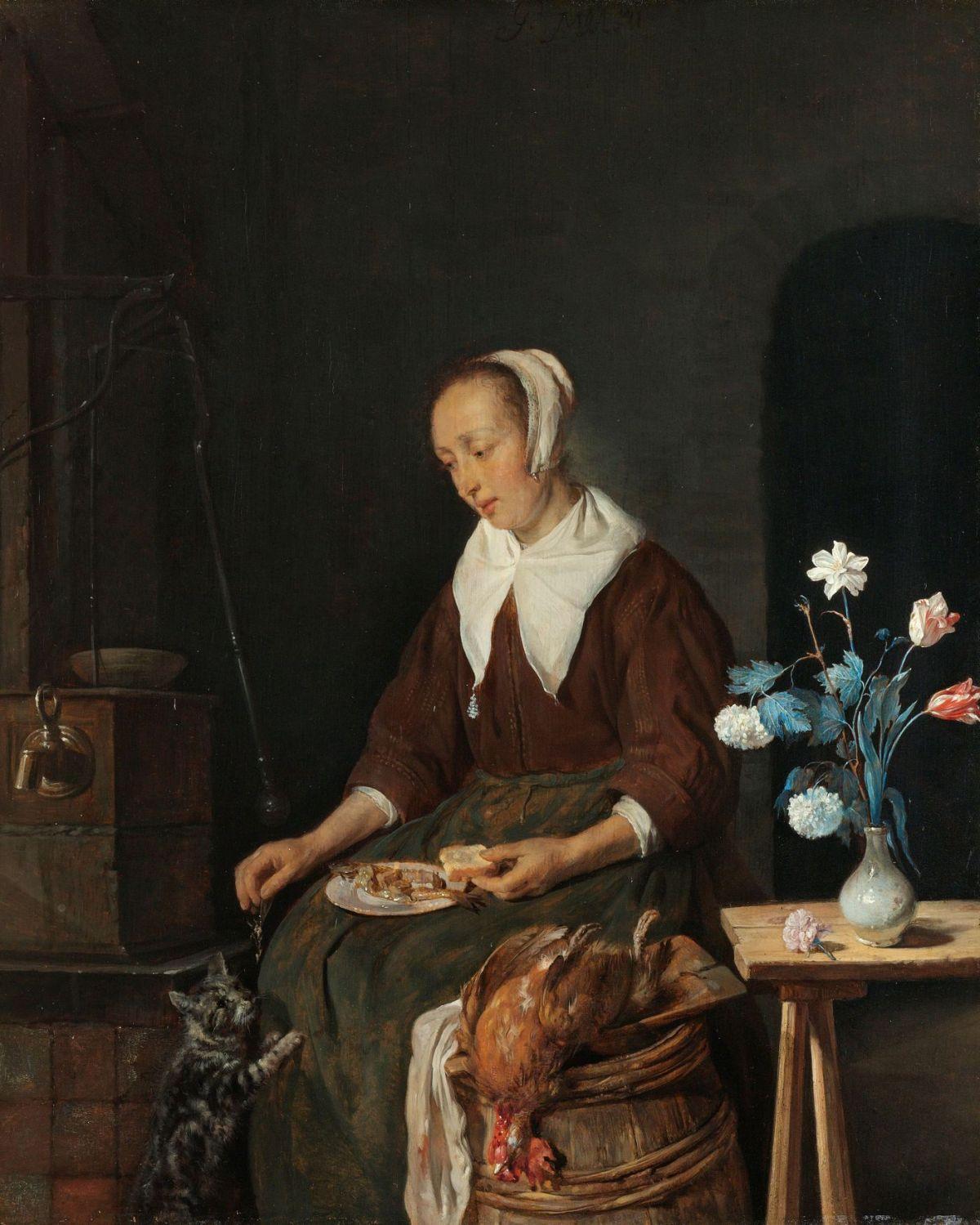 Woman Eating by Gabriel Metsu