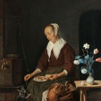 Woman Eating by Gabriel Metsu