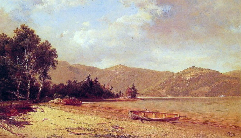 View of Dresden, Lake George by David Johnson