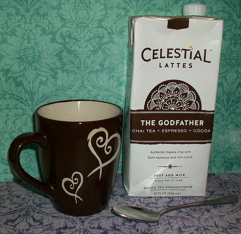 Celestial Lattes - The Godfather is Chai Tea Espresso and Cocoa