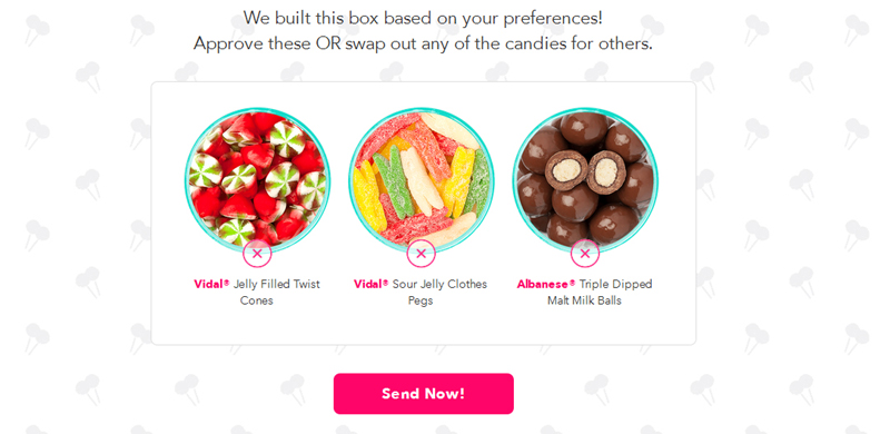 Candy Club Builds a Box According to your Preferences