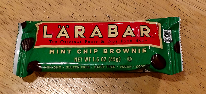 Larabar Gluten Free Mint Chip Brownie Review