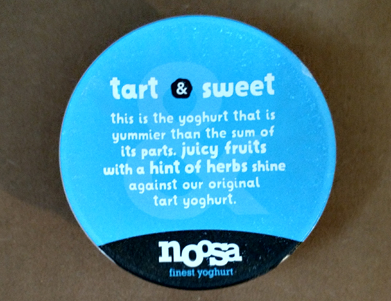 Message Under the Lid of Noosa Yogurt