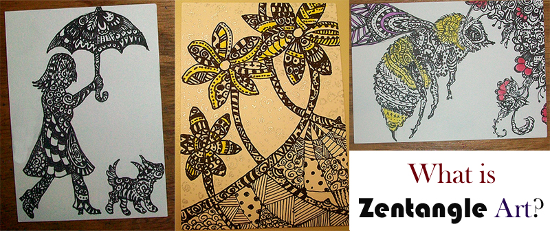 What is Zentangle Art - Examples from Yona Writes