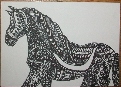 Zentangle Animal - Stallion
