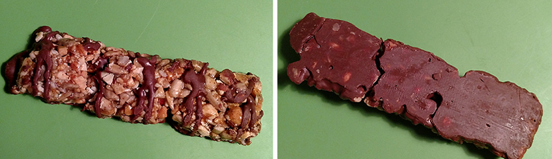 Caveman Dark Chocolate Caramel Cashew Nutrition Bar - Front and Back