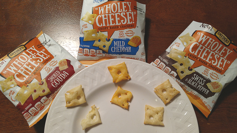 Snyders of Hanover Wholey Cheese Crispy Baked Crackers - Gouda Cheddar Swiss