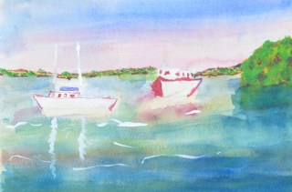 Watercolour 1 by Tracey Bastian. Photo by Carensa Watts