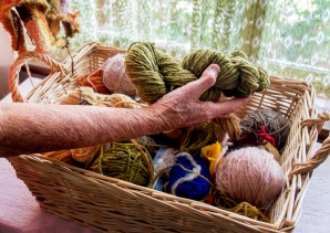 Basket of wool. Image by Rob Cox