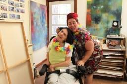 Roslyn with Tracey at Marina's. Photo by Marina Troitsky