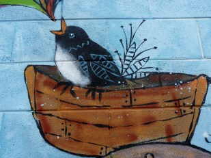 Sharon Hinchliffe mural detail 3. Photo by Sam Everitt