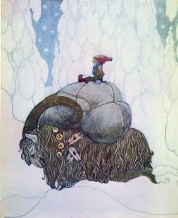 John Bauer, Yule Goat, 1912