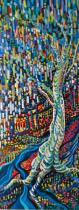 "Alison Price 2012 Acrylic on canvas 12"" * 36"""