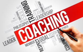 Word cloud emphasizing the term: coaching