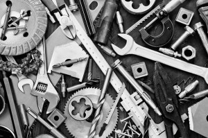 Image of a collage of tools