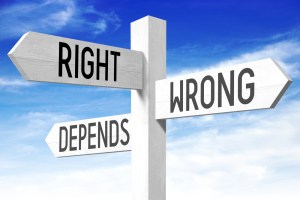 street signs: right, wrong, depends