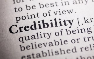 Dictionary image of the word: credibility