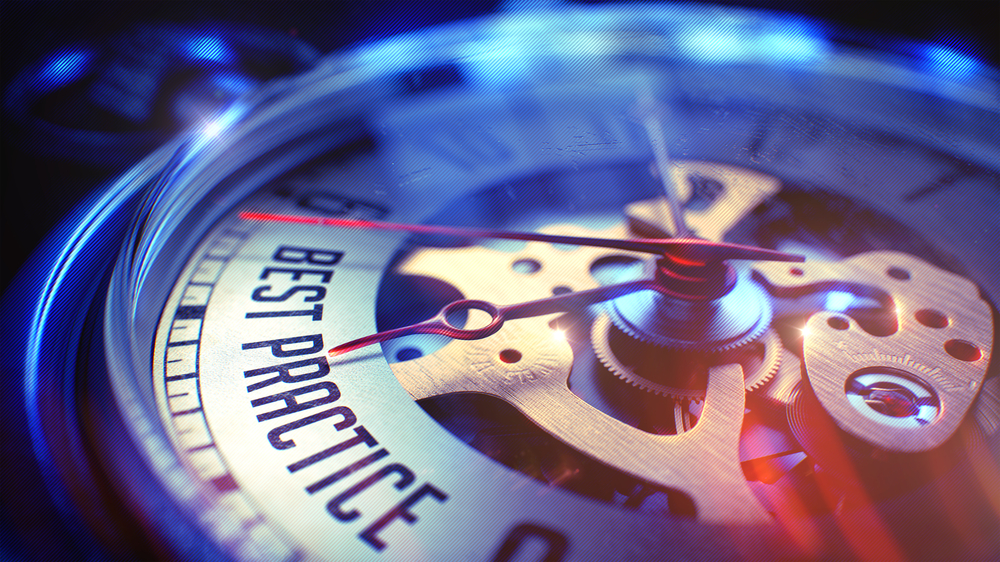 A watch with the label: best practice