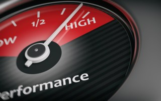 Gauge showing performance from low to high