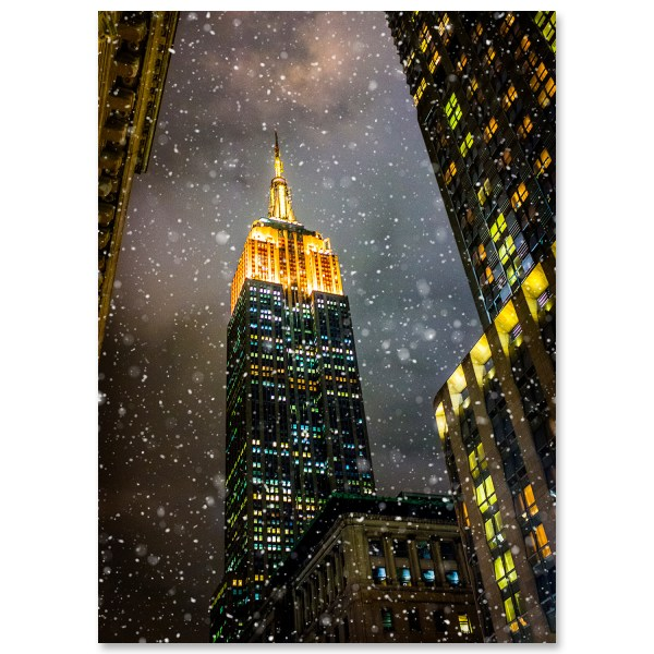 Empire State Building New York Christmas
