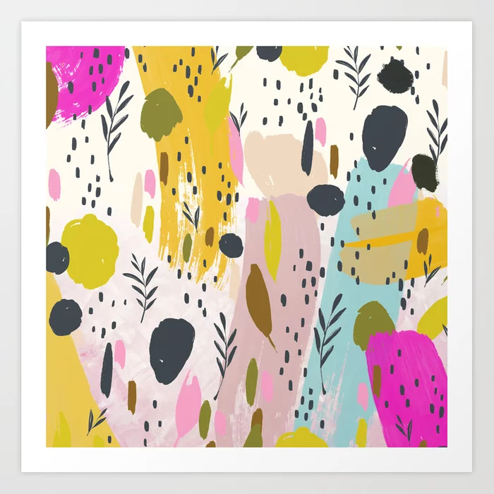Expression - Colorful Abstract Art Print