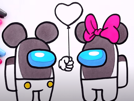 FireShot Capture 360 How to draw AMONG US Mickey and Minnie Mouse YouTube www.youtube.com