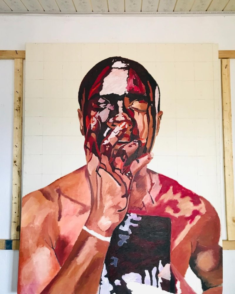 Dipped in blood art