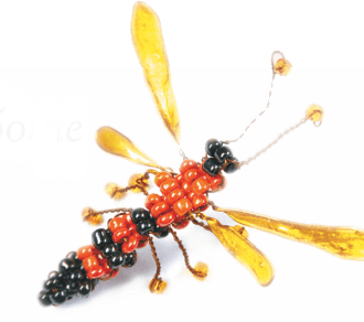 Beading: bee beads, butterfly beads and mouse beads