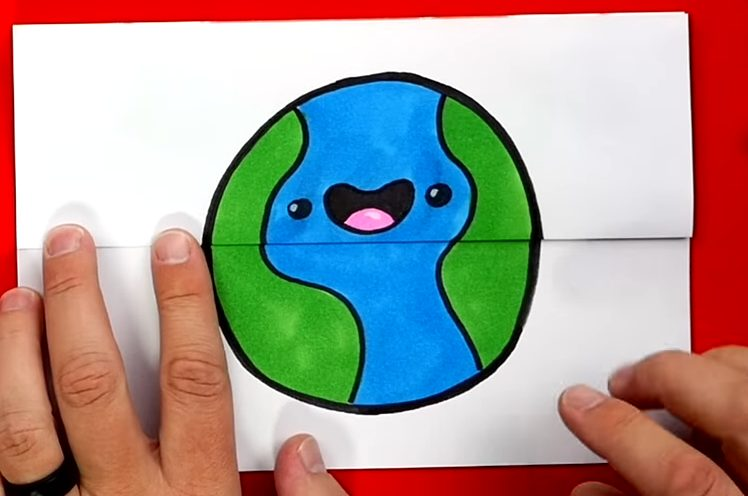 How To Draw An Earth Day Folding Surprise 7 1 screenshot