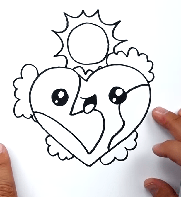 How To Draw The Earth As A Heart 🌎❤️ 5 26 screenshot
