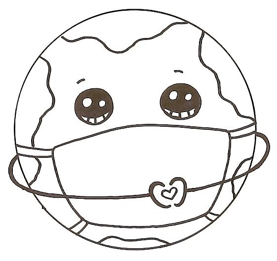 How to Draw the Earth wearing a Mask Coronavirus Awareness Art 6 14 screenshot