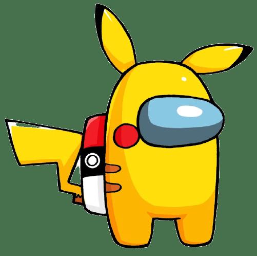 How to Draw AMONG US Pikachu Game Skin Pokemon 4 55 screenshot removebg preview