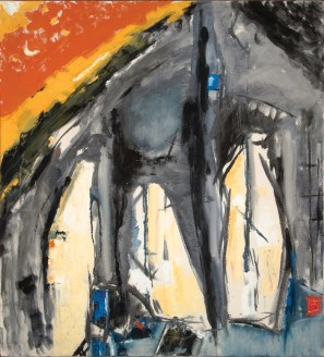 John DePuy. Echo Cliffs, 1958. Oil on Canvas; 40 x 36 in.