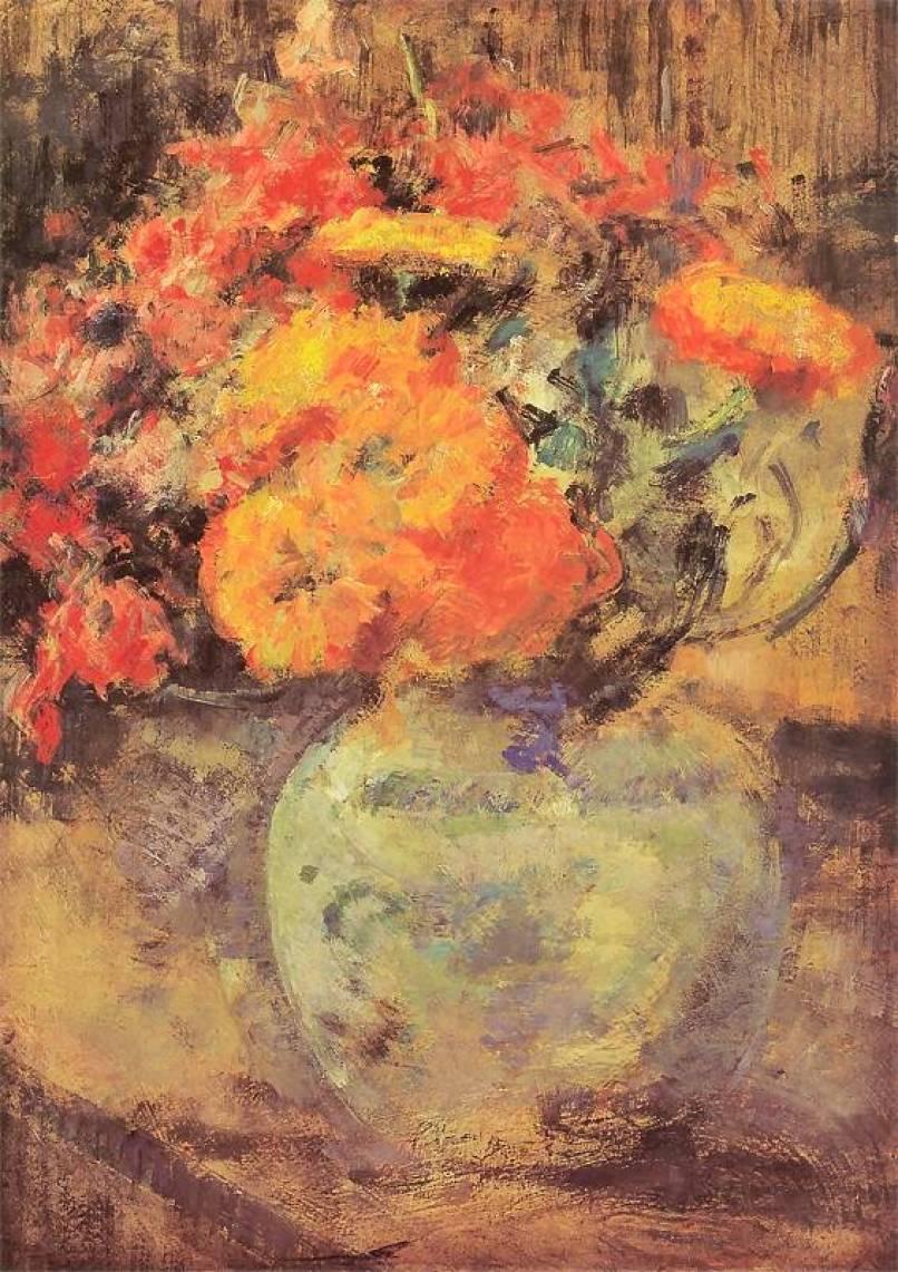 Olga Boznańska: Nature morte avec des fleurs. Vers 1930