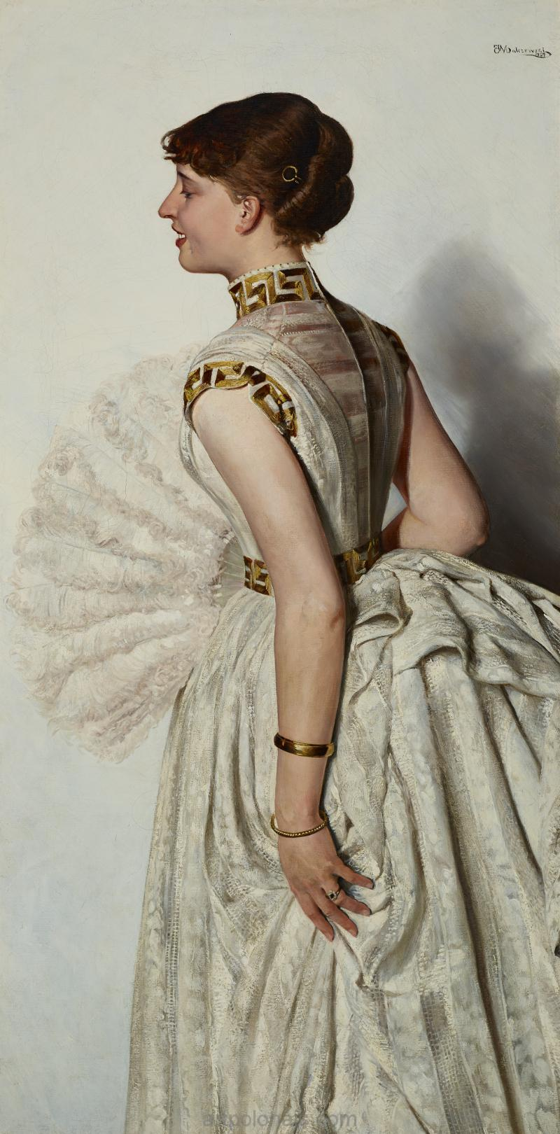 Jacek Malczewski: Portrait de la fiancée. 1887.