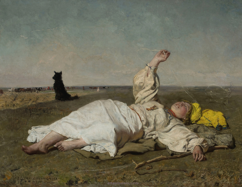 Józef Chełmoński: Été indien. 1875.