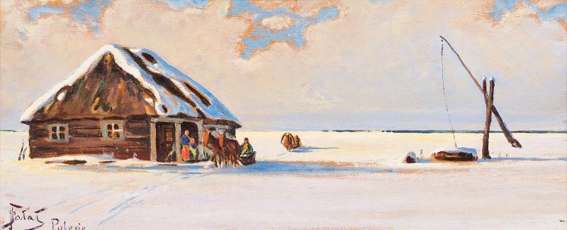 Julian Fałat: L'hiver en Polésie. 1910.