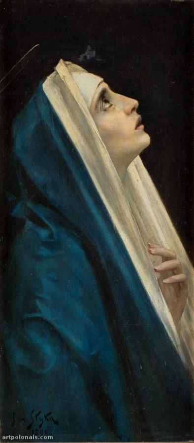 Jan Styka: Maria. 1890. Huile sur toile. 84 x 37.5 cm. Collection privée.